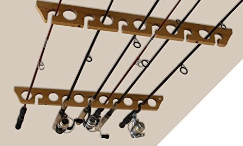 Speed Creek Creations 3 in 1, 11 Fishing Rod Wall Ceiling Storage Rack – Best Fishing Rod Holders