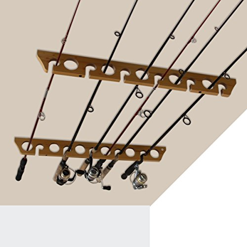 Speed Creek Creations 3 in 1, 11 Fishing Rod Wall Ceiling Storage Rack – Best Fishing Rod Holders