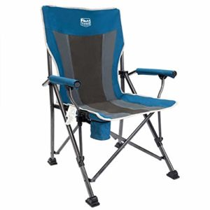 Trees Ridge Tenting Chair Ergonomic High Abet Toughen 300lbs with Elevate Bag Folding Quad Chair Outdoor Heavy Responsibility, Padded Armrest, Cup Holder