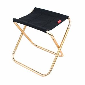 Mini Tenting Stool, Lightweight Camp Stool with Carrying Pouch,Portable Folding Camp Fishing Chair, 8.66 x9.05 x 11inch Foldable Outdoors BBQ Chairs for Scoot,Tenting,Hiking,Seaside (L)