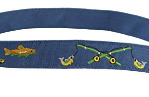 Myself Belts – Toddler and Youth Belt for Boys – Fishing (2T)