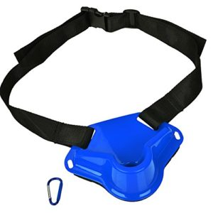 Dilwe Combating Belt Adjustable Fishing Combating Belt Waist Rod Pole Holder Rod Racks Holder Belt for Fishing(Blue)