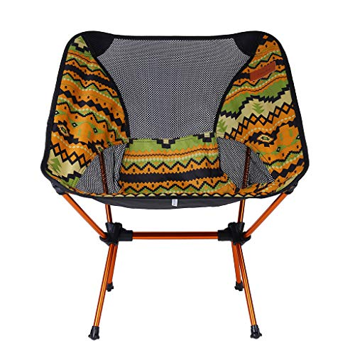 cobcob Launch air Camping Folding Camping,Portable Compact Ultralight Folding Backpacking Chairs, Lightweight for Fishing Garden Hiking Backpacking Chase Outdoors seat (Yellow)