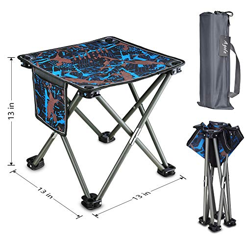 Agole Transportable Folding Stool, Minute Folding Tenting Chair Out of doorways Light-weight Collapsible Chair with Raise Win for Fishing Hiking Gardening Touring Seaside BBQ