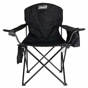 Coleman Tenting Chair Tailgating Chair with Cooler Seaside Chair with Cooler Portable Quad Chair with a 4-can cooler for tailgating, tenting, and the Initiate air