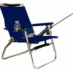 World Exterior Merchandise Legitimate Navy Blue Transportable Folding Ultra Gentle All Aluminum Fishing Chair