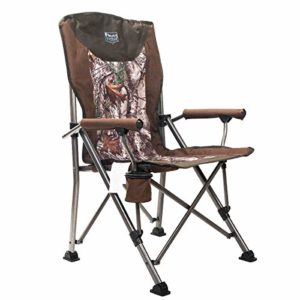 Timber Ridge Folding Quad Padded Chair Transportable with Lift Gain Supports 300lbs for Open air Assignment