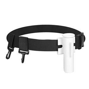 Fishing Rod Pole Holder Belt, Expert Adjustable Gimbal Belt Padded Improve Stand Up Harness Waist Rod Holder Belt