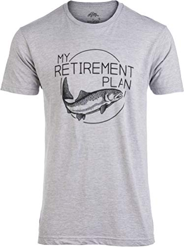 My (Fishing) Retirement Notion | Amusing Fish Pole Humor Fisherman Males Amusing chronicle T-Shirt-(Grownup,3XL) Sport Grey