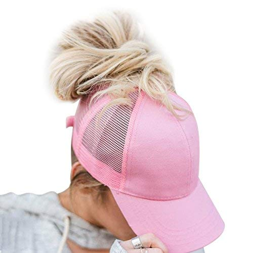 Womens Ponytail Messy Excessive Buns Trucker Ponycaps Terrifying Baseball Visor Cap Dad Hat Adjustable Size, Variy Styles and Colours