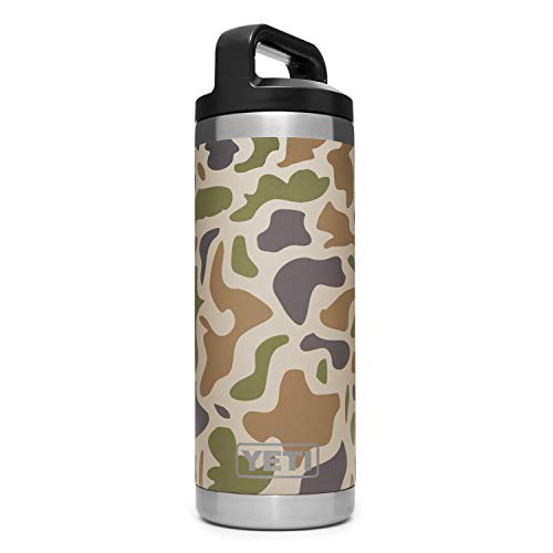 YETI Rambler 18 oz.Vacuum Insulated Stainless Metal Bottle with Cap, Camo