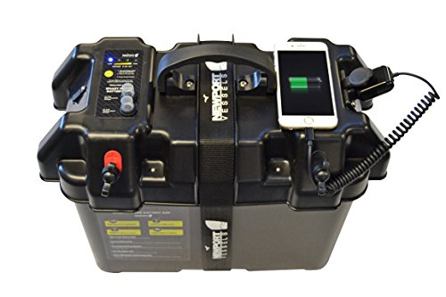 Newport Vessels Trolling Motor Orderly Battery Box Vitality Heart with USB and DC Ports