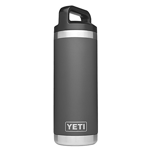 YETI Rambler 18 oz.Stainless Steel Vacuum Insulated Bottle with Cap, Charcoal