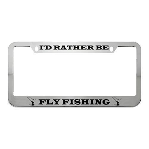 at-this-time-professionals-id-moderately-be-flit-fishing-zinc-metal-license-plate-frame-automobile-auto-set-up-holder-chrome-2-holes.jpg