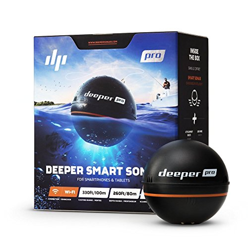 Deeper PRO Easy Moveable Sonar – Wireless Wi-Fi Fish Finder for Kayak and Ice Fishing