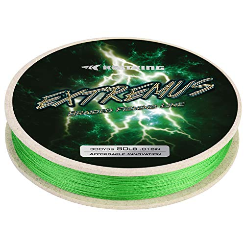 KastKing Extremus Braided Fishing Line,Grass Inexperienced,600Yds,65LB