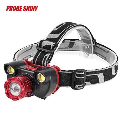 Ranoff Pathfinder Lamp Headlamp Flashlight Camping Headlight 15000LM 4 Modes 3X XM-L T6 Rechargeable 18650 Headlamp USB Charger Residing (Pink)