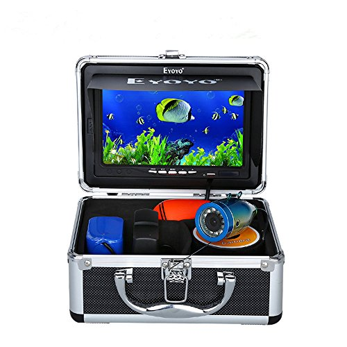 7″ Coloration LCD 600tvl Waterproof 15m Cable 4000mah Rechargeable Battery Fish Finder Underwater Fishing Video Camera with Elevate Case