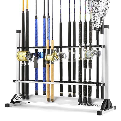 savior-instruments-aluminum-fishing-rod-rack-holder-fish-pole-storage-ground-demonstrate-stand-organizer-gentle-weight-build-vertical-slot-accessible-to-defend-12-to-forty-eight-rods.jpg