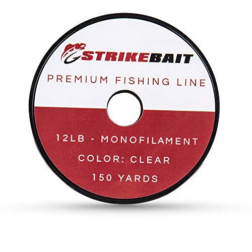 STRIKEBAIT Monofilament Fishing Line – for Easy Handling and Casting – Further Skinny, Ultra Stable, Certain Mono – Most productive for New Water and Saltwater – 12 Pound Take a look at, 150 Yards