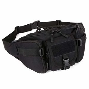 Tactical Waist Pack Earn Transportable Fanny Pack Waterproof Out of doors Stir Massive Military Waist Earn for Militia Cycling Camping Hiking Looking out Fishing Looking out Every single day Life Shaded