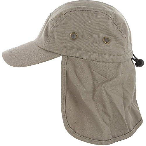 DealStock Fishing Cap with Ear and Neck Flap Conceal – Inaugurate air Solar Protection,One Size