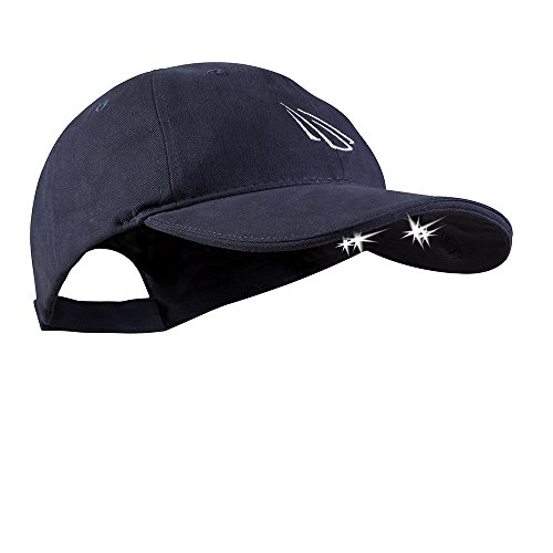 Panther Vision POWERCAP LED Hat 25/10 Ultra-Vivid Fingers Free Lighted Battery Powered Headlamp -Navy Structured Cotton (CUB4-4164)