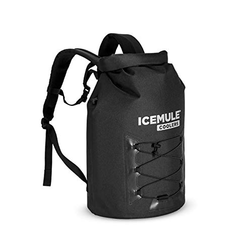 ICEMULE Pro Insulated Backpack Cooler Procure – Hands-Free, Collapsible, Waterproof and Soft-Sided, This Extremely Transportable Cooler is Ideal for Mountain hiking, The Seaside, Picnics, Tenting, Fishing-Enormous, Matte Shaded
