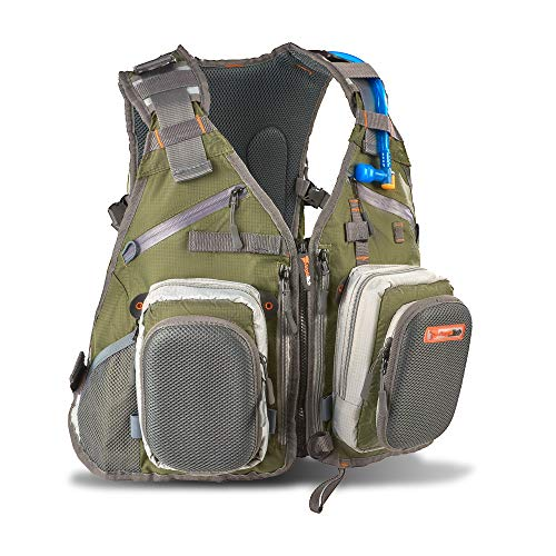 Anglatech Flee Fishing Backpack Vest Combo Chest Pack for Type out Equipment and Accessories, Involves Water Bladder, Adjustable Dimension for Males and Females