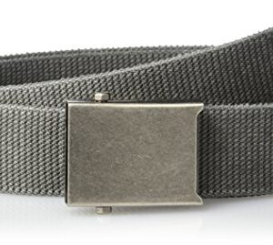 Columbia Males's Protection power Web Belt – Informal for Jeans Adjustable One Dimension Cotton Strap and Metallic Plaque Buckle,Charcoal,One Dimension