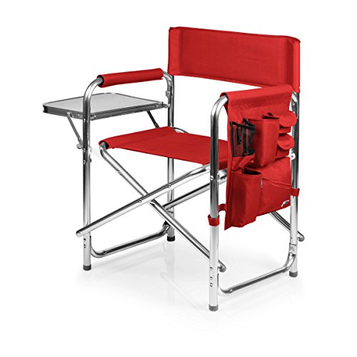 ONIVA – a Picnic Time stamp Portable Folding Sports Chair, Red