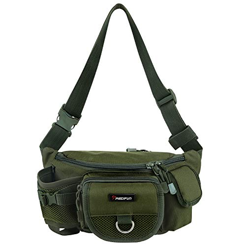 Piscifun Fishing Obtain Moveable Exterior Fishing Type out Baggage More than one Waist Obtain Multi Purposeful Fanny Pack (Shade Military Inexperienced)