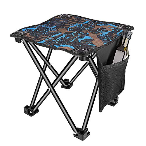 Unihoh Runt Folding Camping Stool, Portable Stool for Exterior Camping Strolling Hunting Rock climbing Fishing Jog,600D Oxford Cloth Slacker Stool with Raise Gain