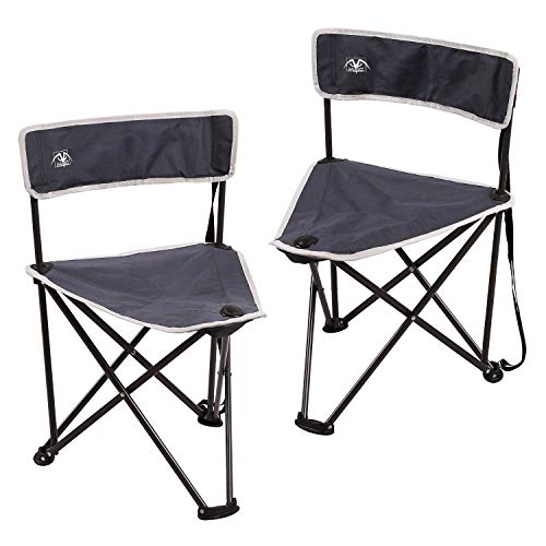 REDCAMP 2-Pack Tripod Chairs Folding, Lightweight Portable Tripod Seat Stool with Relief, Puny Camping Chairs for Adults Initiate air Backpacking, Blue