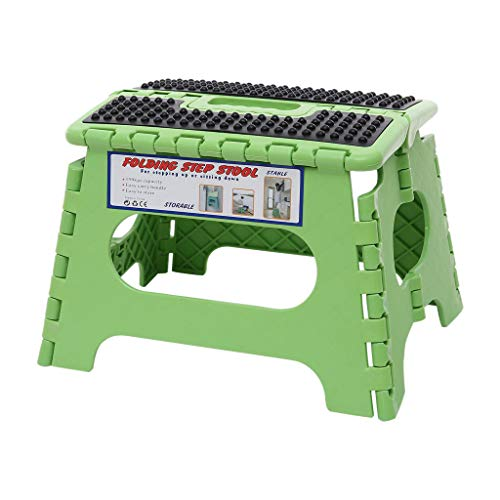 Fan-Ling Plastic Multi Cause Folding Step Stool,Relaxation room Kids Tiny Bench,Transportable Adult Outside Fishing Stool,Dwelling Insist Outside Storage Foldable (Green1)