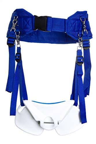 GAFFER SPORTFISHING Extensive Body Stand Up Fishing Harness with Combating Belt Rod Holder (Blue)