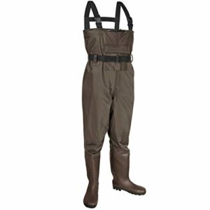 KOMEX Chest Waders,Fishing Boots Waders Searching Bootfoot with Wading Belt Waterproof Boots Breathable Nylon and PVC Wading Boots for Men and Girls