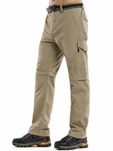 Toomett Rock climbing Pants Mens,Zip Off Convertible Out of doorways UPF 50+ Like a flash Dry Lightweight Fishing Cargo Pants with Belt #6088-Khaki,30