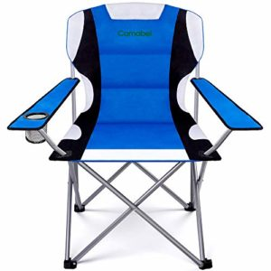 Folding Tenting Chairs Out of doorways Lawn Chair Padded Foldable Sports actions Chair Gentle-weight Fold up Camp Chairs Excessive Weight Skill Receive Chairs for Heavy Accountability Seaside Mountain rock climbing Fishing Spectator with Cup Holder