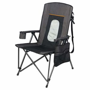 Portal Outsized Quad Folding Tenting Chair High Abet Cup Holder Exhausting Armrest Storage Pockets Raise Bag Integrated, Again 300 lbs, Unlit