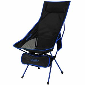 G4Free Light-weight Moveable Chair Out of doorways Folding Backpacking Camping Lounge Chairs for Sports activities Picnic Seaside Hiking Fishing (Darkish Blue)