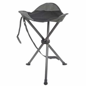 PORTAL Colossal Slacker Chair Folding Tripod Stool for Outdoors Camping Strolling Attempting Mountain climbing Fishing Shuttle, Toughen 225 lbs