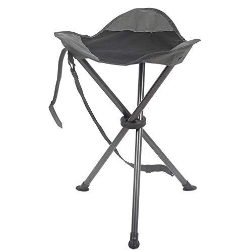 PORTAL Colossal Slacker Chair Folding Tripod Stool for Outdoors Camping Strolling Attempting Mountain climbing Fishing Shuttle, Toughen 225 lbs
