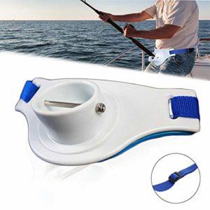 Antenors Fishing Rod Holder Adjustable Fishing Belt, Padded Fishing Belly Top Fishing Combating Waist Belt Enhance Waist Rod Holder Belt Knowledgeable Fishermen Gimbal Pad