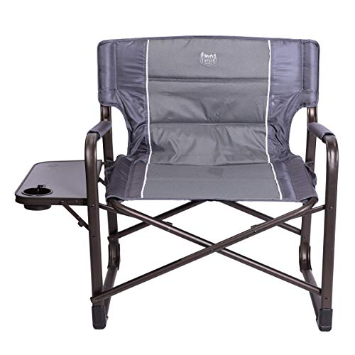 Bushes Ridge XXL Fine Administrators Chair 28″ Wide Heavy Responsibility Folding Tenting Chair for Paunchy Padded with Facet Desk, Helps 600lbs