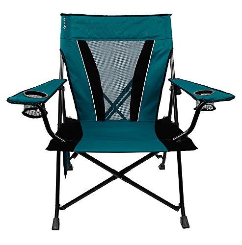 Kijaro XXL Twin Lock Transportable Tenting and Sports actions Chair, Cayman Blue Iguana