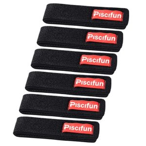 Piscifun Fishing Rods Belt Ties Rod Strap Stretchy Trout Fishing Rods Carbon Telescopic Bait Casting Spinning Rods Holder Wrap Accumulate Accessories 6pcs