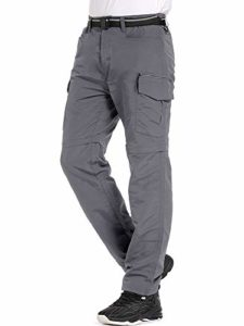 Jessie Kidden Hiking Pants Mens, Exterior UPF 50+ Rapid Dry Light-weight Zip Off Convertible Fishing Cargo Pants with Belt (6055 Gray, 34)