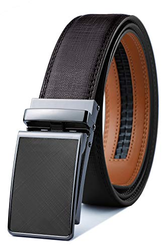 Mens Belt,Bulliant Clothier Click on Effective Leather-primarily based Ratchet Belt For Males, Dimension-Customized