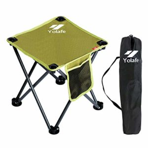 Diminutive Folding Camping Stool Light-weight Chairs Transportable Seat for Adults Fishing Hiking Gardening and Seaside with Elevate Bag, Inexperienced